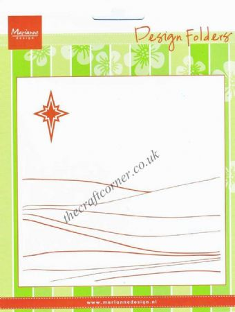 Hill Landscape & Bright Star Design Embossing Folder by Marianne Design